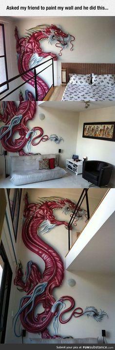 Amazing red dragon