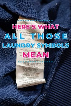 "Even if you're a laundry veteran, those symbols can really do your head in. If you've ever wondered, ""what do laundry symbols mean?"" you'll appreciate this post. Laundry Storage, Diy Storage, Lava, Laundry Symbols, Doing Laundry, Pallet"