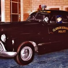 Chief Joe Volpe in Clarion's (PA) police car.