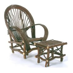 Rustic Fan Chair of Bent Willow by TheBentTreeGallery on Etsy, $445.00