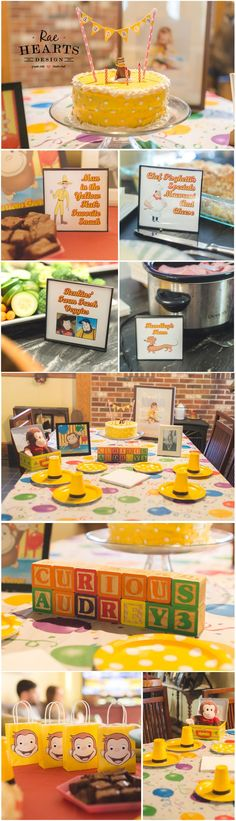 Curious George Birthday Party Decor Handmade Decorations  3rd Birthday Party