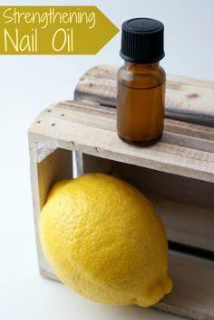 Homemade Strengthening Nail Oil DIY for Weak, Dry, Peeling, or Splitting Fingernails
