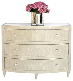Worlds Away Natalie Lio limed oak bow front dresser - Transitional - Dressers Chests And Bedroom Armoires - Matthew Izzo