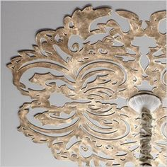 Lace metal ceilling disk - #robertcrafts metallic paint would look great on some home refurnishing #DIY #Craft