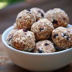 Cherry Almond Coconut Protein Balls  Enjoy these as a delicious post workout snack... Or just a regular anytime healthy snack