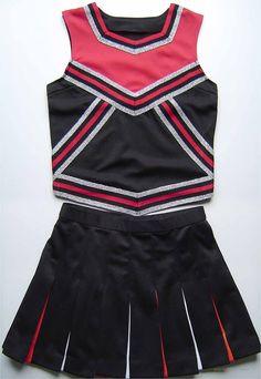 Pink and Black Cheerleading Uniform