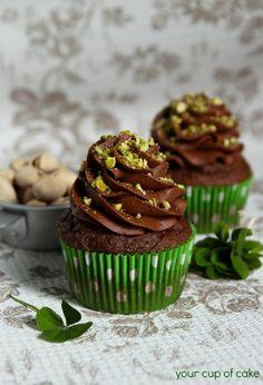 Chocolate Pistachio Cupcakes