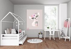 Chihuahua Dog Macaroon Baby Girl Nursery Wall Art Print Ethereal Whimsical Bohemian Floral Printable Decor