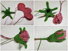 Watch The Video Splendid Crochet a Puff Flower Ideas. Wonderful Crochet a Puff Flower Ideas. Crochet Puff Flower, Crochet Leaves, Knitted Flowers, Crochet Flower Patterns, Crochet Motif, Crochet Designs, Crochet Stitches, Crochet Poppy, Crochet Roses