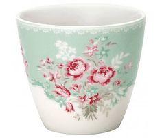 """GreenGate Becher """"Latte cup Betty"""" mint"""