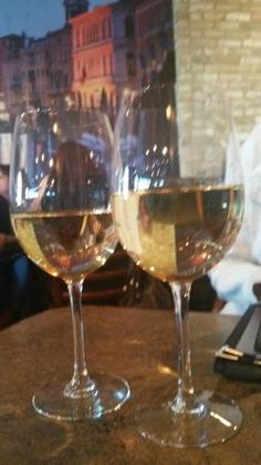 Chardonnay for two please! Santa Lucia Pizza Winnipeg  |  4 St Mary's Rd, Winnipeg, Manitoba, Ca