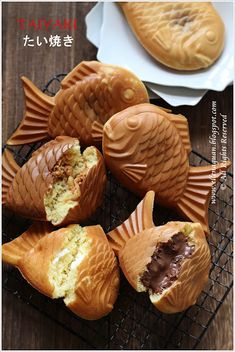 Taiyaki, Japanese fish shaped pancakes.