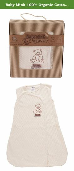 Baby Mink 100% Organic Cotton Unisex Baby Sleeping Bag Sack Natural (3-6 Months). Baby Mink® 100% Certified Organic Cotton Baby Swaddle Wrap Natural (3-6 Months). Easy snaps keeps baby snuggled all thru the night. Comes beautifully packaged in recycled material box with rope handle and is gift ready! Baby Mink® utilizes 100% organic cotton that is harvested and produced without harsh chemicals, pesticides, or dyes. This makes it the perfect choice to go next to your baby's sensitive skin....