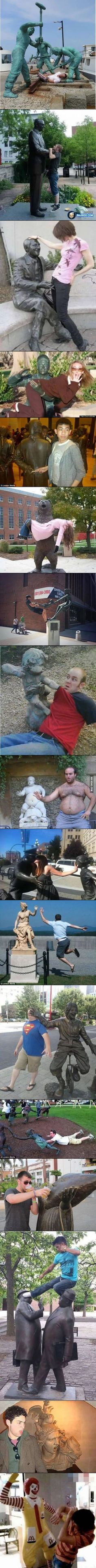 Humor Discover Fun with statues Stupid Funny Memes, Funny Relatable Memes, Haha Funny, Funny Cute, Hilarious, Top Funny, Funny Humor, Funny Stuff, Best Funny Pictures