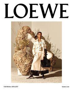 Loewe AW 2016 Campaign, Liya Kebede by Steven Meisel