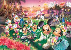 D-1000-359 Tenyo Disney Mickey Minnie Hawaii Wedding Jigsaw Puzzles Mickey Mouse Wedding, Mickey Mouse And Friends, Mickey Minnie Mouse, Art Disney, Disney Love, Disney Magic, Miki Mouse, Disney Jigsaw Puzzles, Disney Pictures