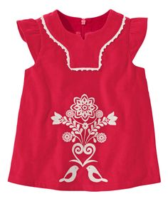Hanna Andersson Apple Red Santa Lucia Pincord Top - Infant & Toddler | zulily