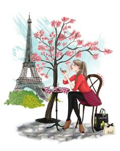 I live Paris illustrations. Art And Illustration, Illustration Parisienne, Illustrations, Tour Eiffel, Art Parisien, Arte Fashion, Little Paris, Paris Art, I Love Paris