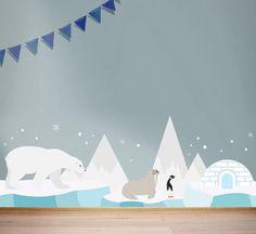Children's Arctic Wall Sticker Set
