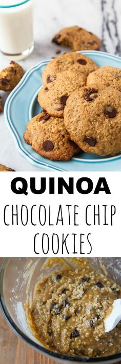 Stir in a little superfood to your dessert! These chocolate chip cookie have leftover quinoa stirred in, making them light and fluffy!