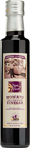 Balsamic Vinegar Red Wine Moscato  with hints of Figs Raspberry  Homemade Wine aged 8years in Cabot  Chestnut wood in small batches by our family from Sicily Italy  85 fl oz  Papa Vince >>> Want to know more, click on the image.