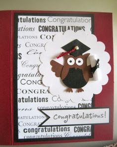 Graduation Owl Card Stampin' Up Owl Punch