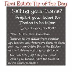 Prepare your home for photos!