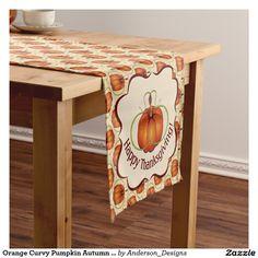 Orange Curvy Pumpkin Autumn Pattern