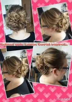 Loose curls pinned