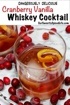Cranberry Cocktail, Cocktail Ginger Ale, Whisky Cocktail, Cranberry Juice, Cocktail Amaretto, Caipirinha Cocktail, Whiskey Recipes, Drinks Alcohol Recipes, Cocktail Recipes