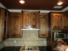 Black Glazed Kitchen Cabinets | Dark Stained Oak Cabinets In An Already  Dark Kitchen Are To