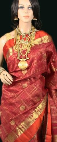 Red Kanjeevaram Bridal Saree