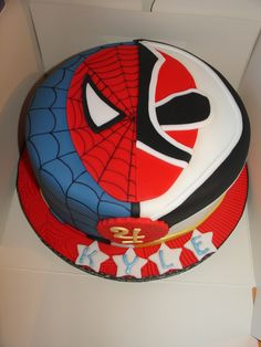 Spiderman vs Red Samurai Power Ranger Cake :D xMCx