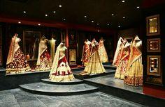 Sabyasachi launches his first flagship store at Delhi - Life 360 degrees Indian Interior Design, Showroom Interior Design, Boutique Interior Design, Clothing Boutique Interior, Boutique Decor, Boutique Ideas, Indiana, Sari Shop, Design Studio Office