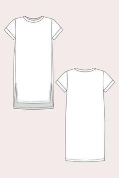 Inari T-Shirt Dress & Cropped Tee Sewing Pattern | Named - Stitch 56  - 9