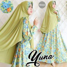 yuna hijau Rp130rb, bahan silk satin, ld 100cm, jilbab spandek korea pakai pad, pjg baju 138cm, lebar kaki bawah 280cm, berat 750gram  contact us  FB fanpage: Toko Alyla  line@: @alylagamis  WA: 0812-8045-6905    toko online baju muslim  gamis murah  hijab murah  supplier hijab  konveksi gamis  agen jilbab