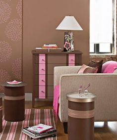 brown and pink for emmy's room!