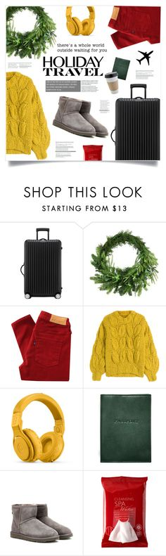 """""""To Travel Is To Live"""" by marina-volaric ❤ liked on Polyvore featuring Rimowa, Martha Stewart, Levi's Made & Crafted, Maison Margiela, Beats by Dr. Dre, Graphic Image, UGG Australia, OUTRAGE, Koh Gen Do and travelinstyle"""