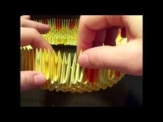 how to make a 3d origami fruit basket - YouTube