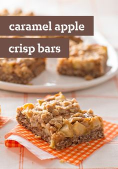 Caramel Apple Crisp Bars – Here's all the caramel-kissed goodness found in your favorite fall dessert recipes in an easy to make, easy to eat crispy bar.