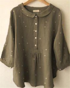 Long Sleeve Casual Polka Dot Daily Shift Plus Size Tops – narachic Plus Size Chic, Plus Size Tops, Long Sleeve Sweater, Long Sleeve Tops, Women's Striped Shorts, Blue Khakis, Maxi Shirt Dress, Long Blouse, Types Of Sleeves