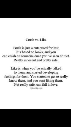 Crush vs. Like