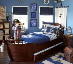 Someday when I have a kid they are going to have a pirate ship bed...