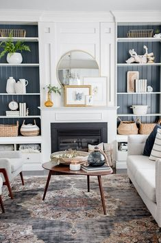 Modern farmhouse fall living room craftberry bush over the f Fall Living Room, Rugs In Living Room, Home And Living, Living Room Designs, Modern Living, Small Living, Modern Room, Living Room Pottery Barn, Scandi Living Room