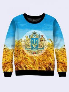 Mens 3D-print sweatshirt - Symbols of Ukraine.  #Menshoodie #malesweater #youthfulsweatshirt #3Dprintimage #cardigan #pullover #Longsleeve #hoody #SymbolsofUkraine