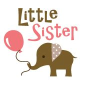 Little Sister - Mod Elephant announcement t-shirts and gifts