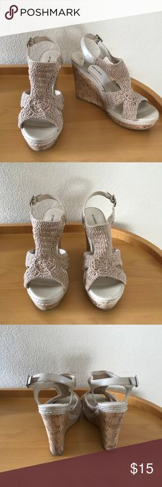 Wallis Crochet Wedge Like new. Rarely worn. Super cute for spring & summer! Audrey Brooke Shoes Wedges