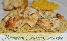 4 MOM Recipes |   Parmesan Chicken Casserole