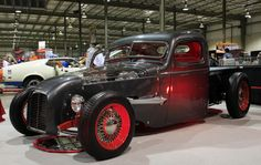 """Tim Gunsalus was showing his 1946 Chevrolet pick-up, """"Klear View"""" at Hot Rod Fest."""