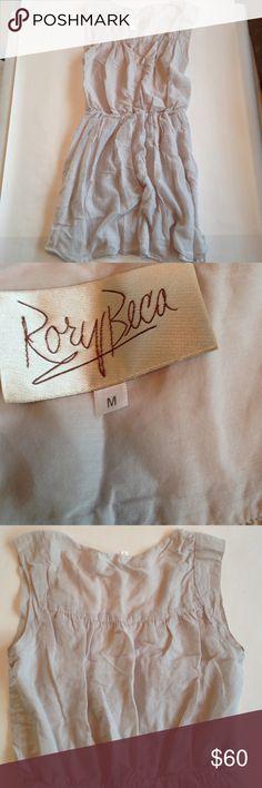 Rory Beca sleeveless dress Pale gray. Hidden snap front. Jersey lines skirt. No belt Rory Beca Dresses Mini